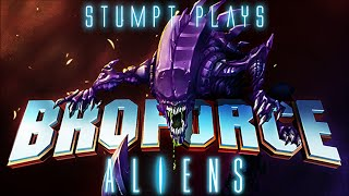 Stumpt Plays - Broforce - Alien Infestation Update! (4 Player Gameplay)