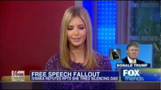 Ivanka Trump defending dad: Donald has right to voice opinion. Fox & Friends 12.03.2012