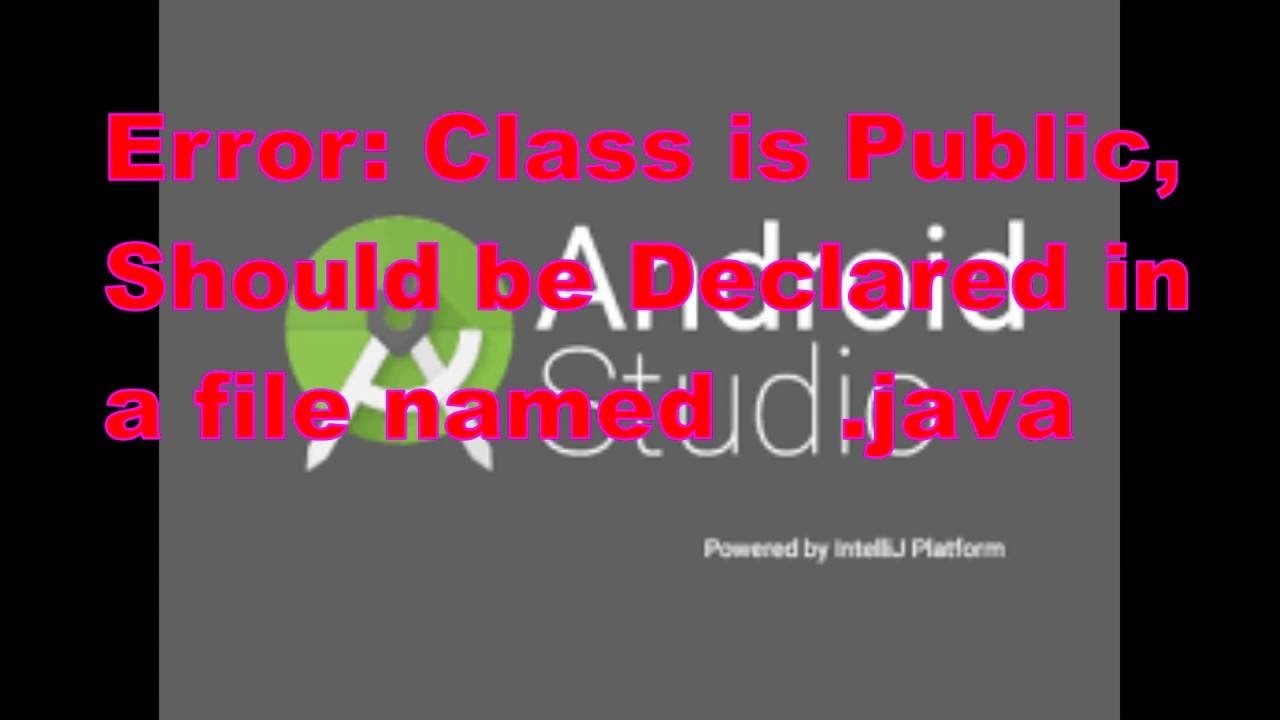 Android Studio: Error: Class is Public, Should be Declared in a file named       java