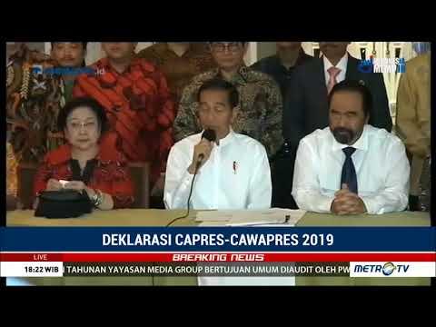 Jokowi Resmi Pilih Ma'ruf Amin sebagai Cawapres