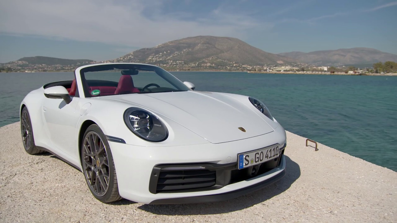 2020 Porsche 911 Carrera Cabriolet White Metallic Exterior Interior Driving Scenes Youtube