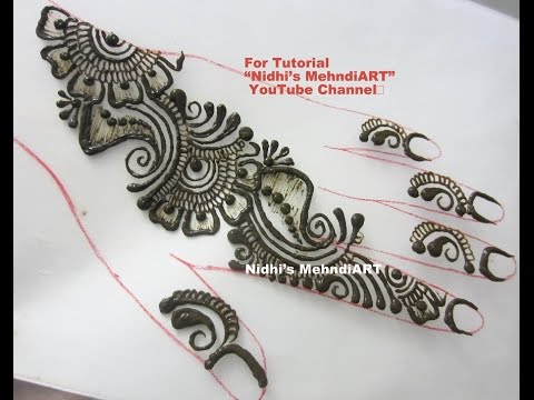 simple repeatable shaded arabic henna mehndi design