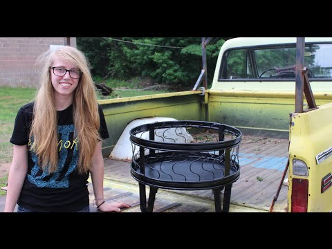maddy makes a scrap metal fire pit - tim sway perspectives