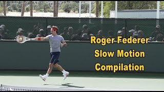 Roger Federer Super Slow Motion Compilation - Forehand, Backhand, Serve, Volleys and Overheads