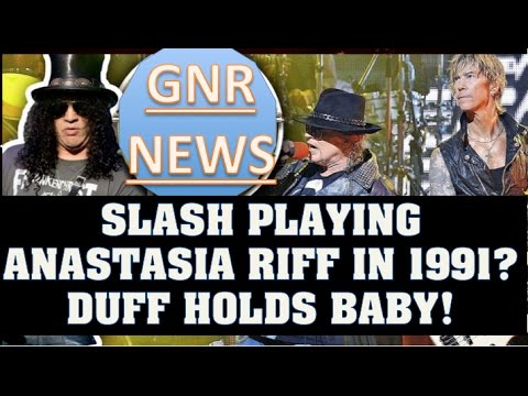 Guns N' Roses News:GNR St  Patrick's Day, Did Slash Play Anastasia in 1991 & Duff Holding a Baby!