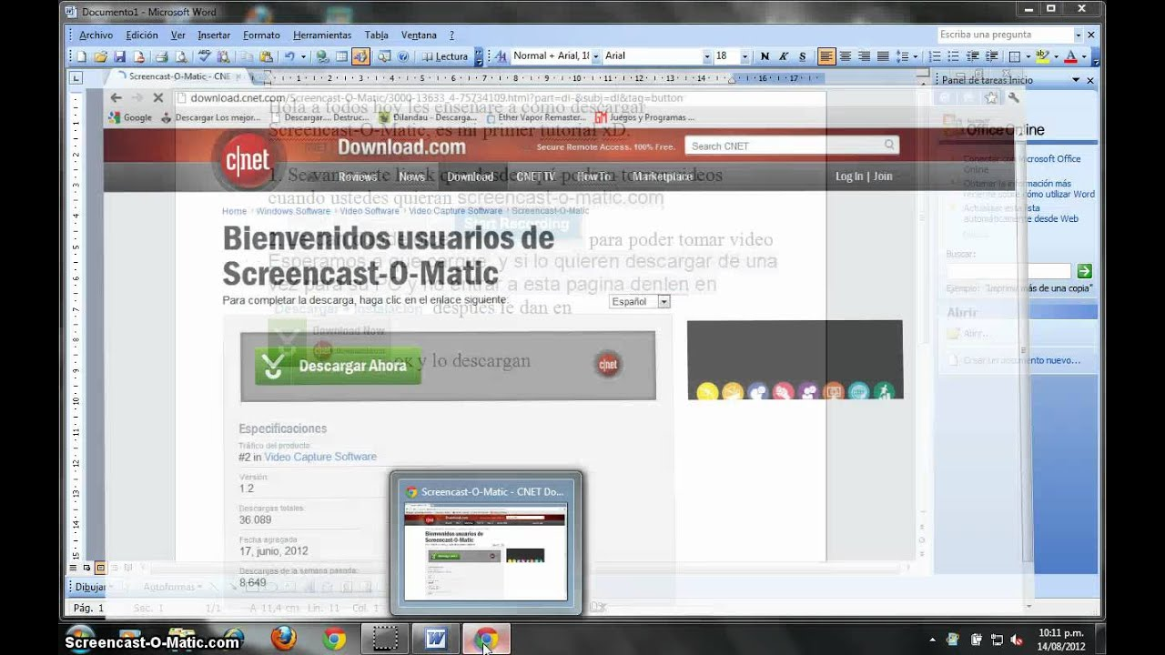 Como descargar Screencast-O-Matic.completo - YouTube