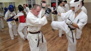Trening Ostro��ckiego Klubu Karate Kyokushin