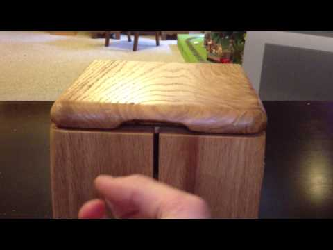 Simple wood puzzle box.