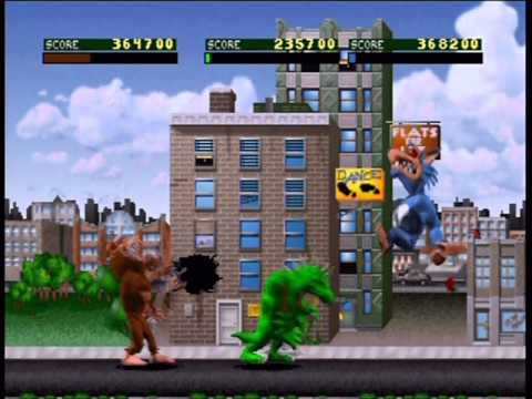 Rampage World Tour Three-Player Playthrough (Actual N64 Capt