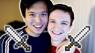 Teaching My GAY Boyfriend Minecraft PvP