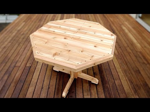 How To Make A Patio Table - Easy Woodworking Project