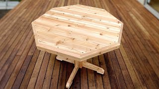 How To Make This Patio Table - Easy Woodworking Project