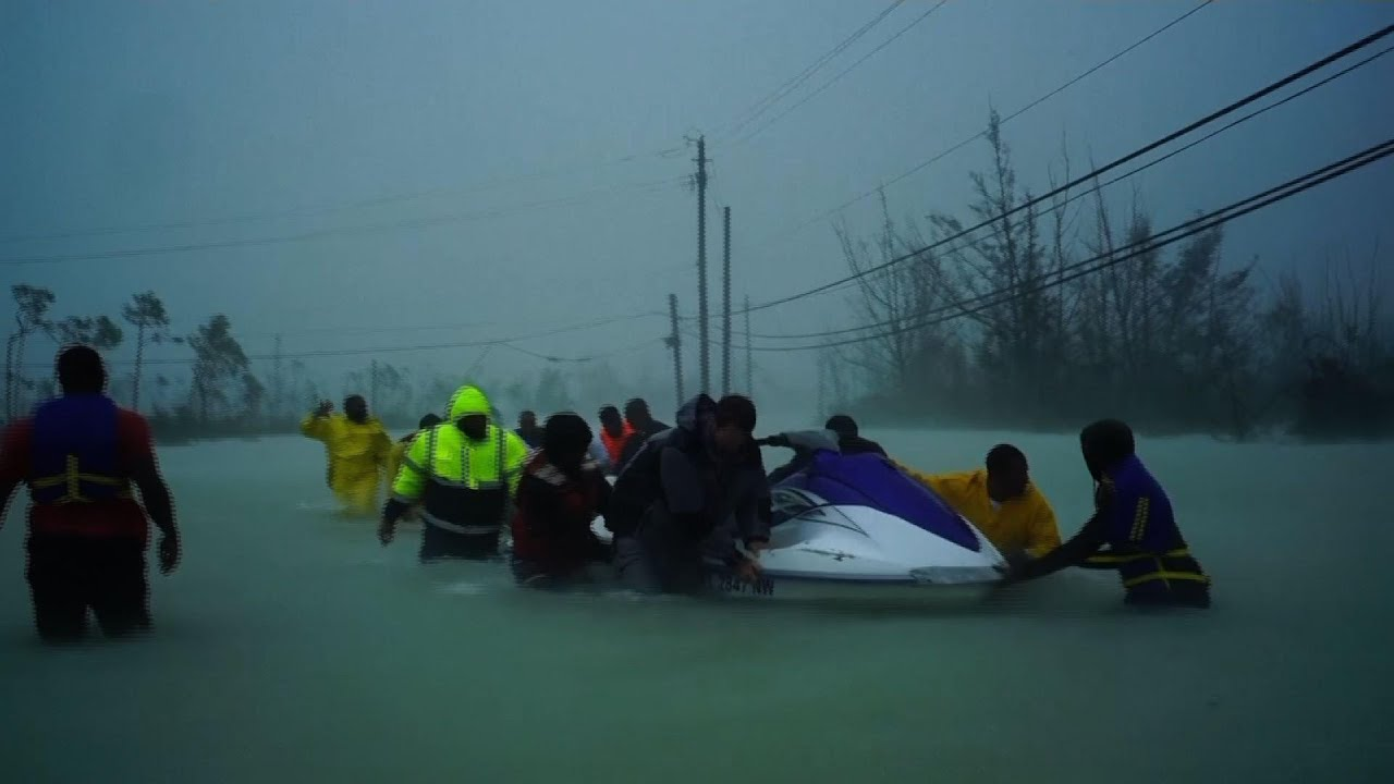 Rescue effort underway in flooded Bahamas