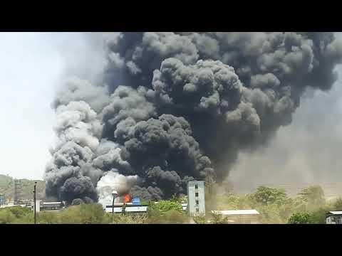 Chemical fire in Privi organic, solvent fire