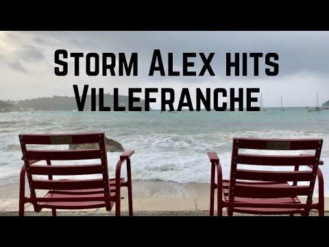 Storm Alex hits Villefranche