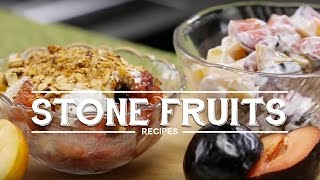 Gluten Free Stone Fruit Crumble and Fruit Salad Recipe