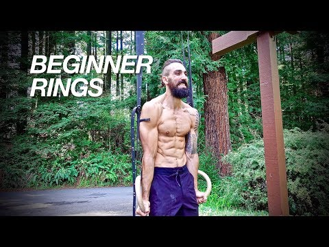 Rings Workout Beginner Level for Building Strength and Mass