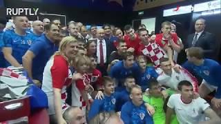 Pogledajte što je Kolinda radila u hrvatskoj svlačionici nakon poraza u finalu SP-a