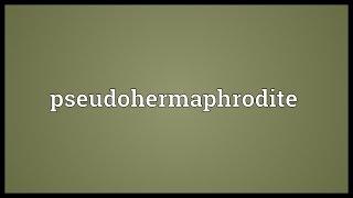 Pseudohermaphrodite Meaning