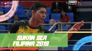 Sepak Takraw Regu Berpasukan | Malaysia 2 - 1 Indonesia | Sukan SEA 2019 | Astro Arena