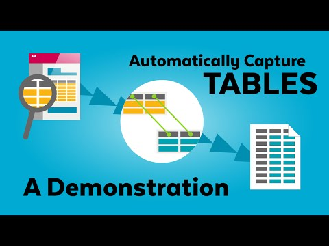Walk-through: Capture Table Action