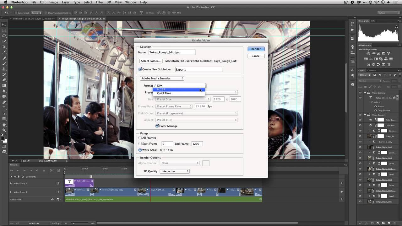Edit Video in Photoshop (Part 7) | Exporting Video from Adobe Photoshop