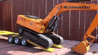 Rc Adventures - Triple Axle Trailer For 1/12 Scale Earth Digger 4200xl Excavator