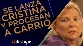Se lanza Cristina y procesan a Carrió | El Destape con Roberto Navarro