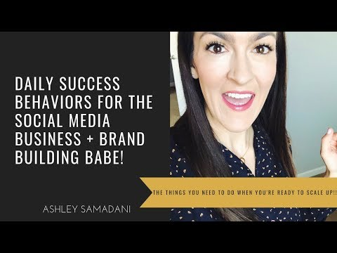 Daily Success Behaviors that create momentum in your social media driven business!!