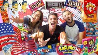 טעימת ממתקים מארה״ב עם שחר סויקיס ונועה פילטר
