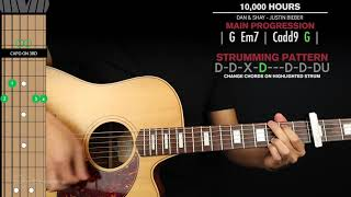 Gambar cover 10000 Hours Guitar Cover Dan + Shay Justin Bieber 🎸|Tabs + Chords|