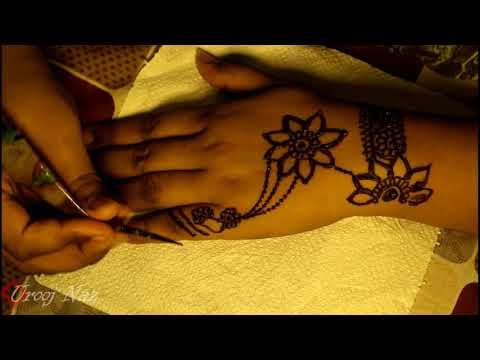 New Simple jewelry design henna-mehandi by Urooj Naz