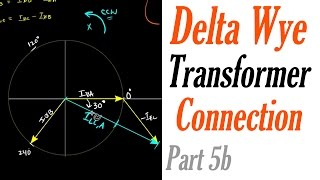 Introduction to the Delta Wye Transformer Connection Part 5b: Current Phasor Analysis
