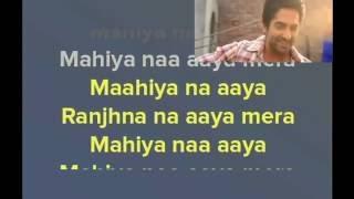 Pani Da Rang - Vicky Donor - Karaoke (with Lyrics and Video)