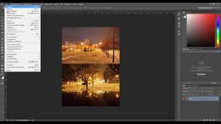 Как склеить фотографии в фотошопе. Как соединить две картинки в одну.