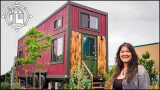 Her 1st Tiny House Crashed💥💔!! So She Made A Better One 😀