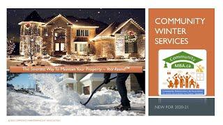 CommunityMBA.ca Winter Service Intro