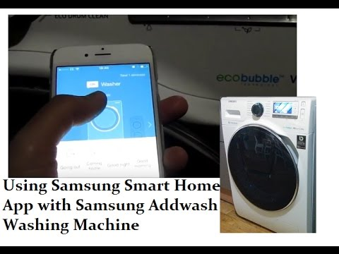 how to connect samsung smart home app with samsung addwash washing machine youtube. Black Bedroom Furniture Sets. Home Design Ideas
