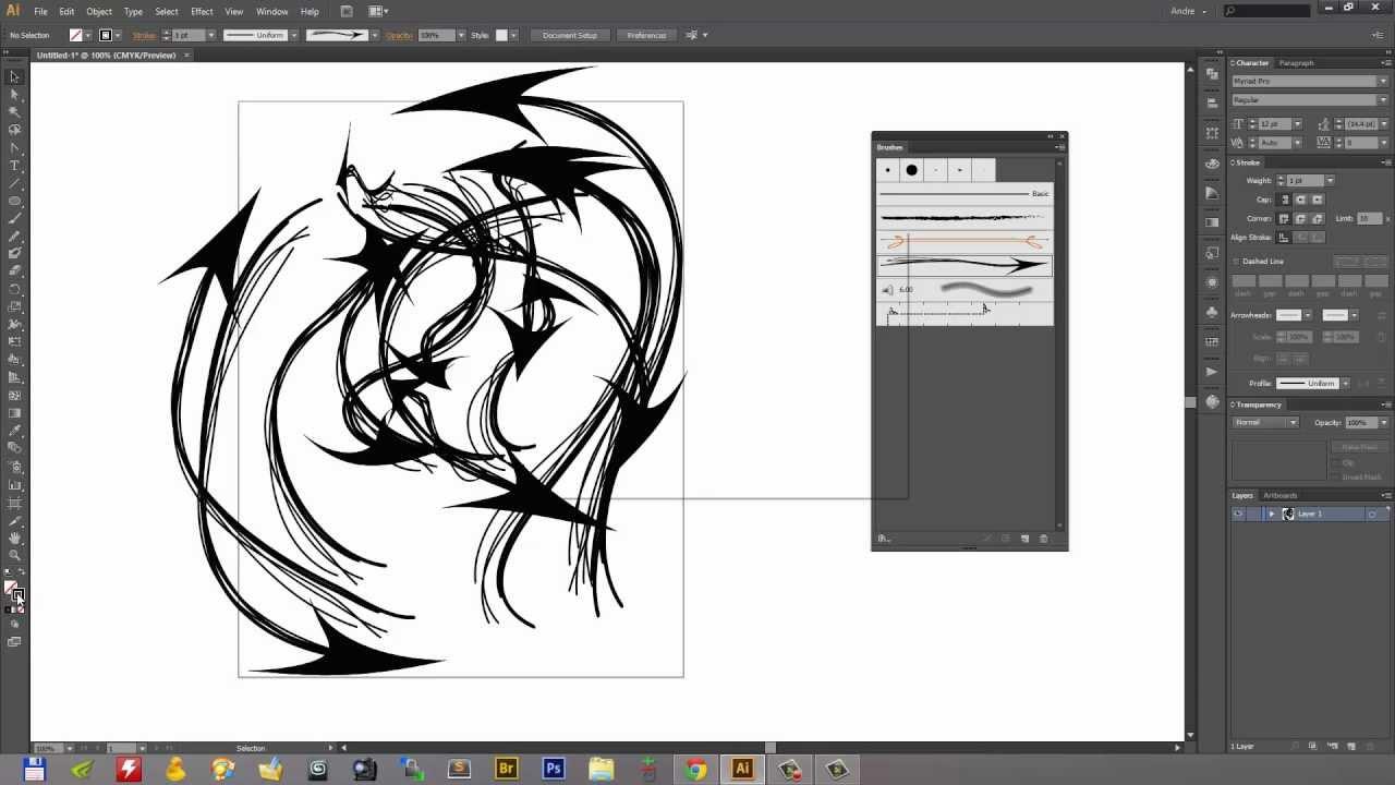creating custom arrow and art brushes in adobe illustrator
