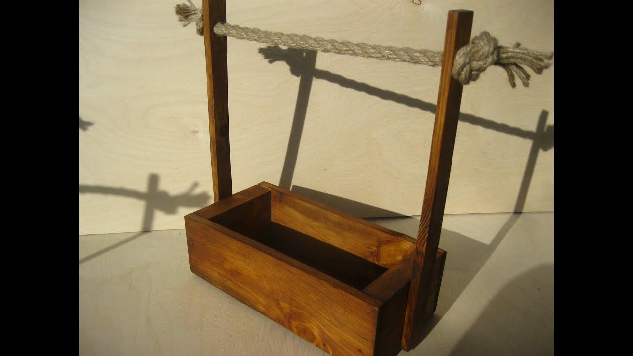 деревянный цветочный ящик своими руками кашпо корзина
