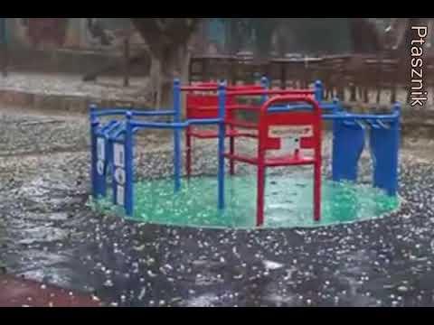 Deszcz i grad w Nikozji