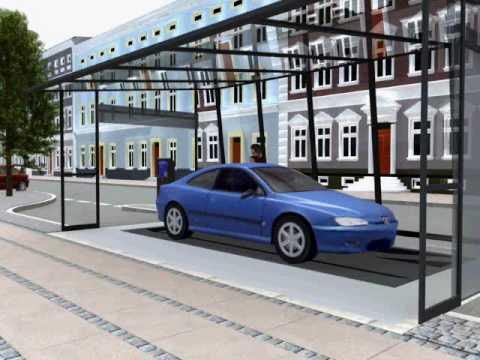 Automated parking garage in copenhagen denmark youtube for Garage oberkampf parking