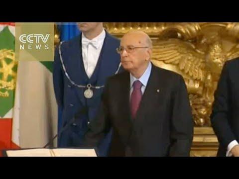 Italy's President Giorgio Napolitano resigns
