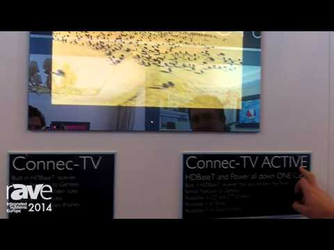 ISE 2014: Aquavision Features Its Connec-TV ACTIVE HDBaseT TV and Transmitter/Receiver