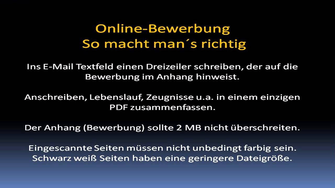 Online Bewerbung Kurz Kompakt Wie Man Es Richtig Macht Youtube