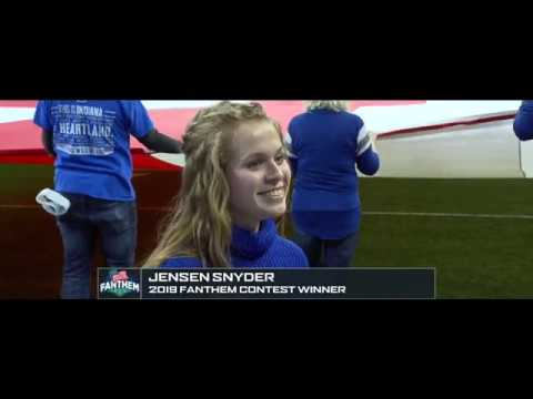 Jensen Snyder, 2019 Fanthem Winner at the Indianapolis Colts game on 12/22/19