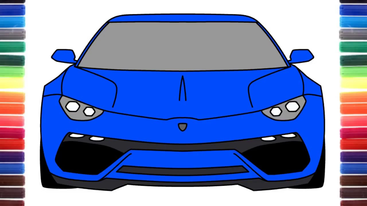 How To Draw Lamborghini Asterion Concept Car Front View Youtube