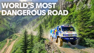 Racing On The World's Most Dangerous Road: Kamaz Truck VS Rally Car