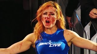 Becky Lynch BUSTED Open By Nia Jax On WWE Raw