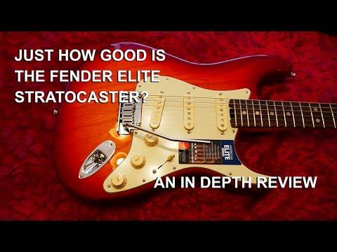 Fender Elite Stratocaster 2016 a close up in depth Review -  tonymckenziecom